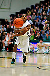 12 December 2010: University of Vermont Catamount guard Simeon Marsalis (15), a Sophomore from New Rochelle, NY, in action against the Marist College Red Foxes at Patrick Gymnasium in Burlington, Vermont. The Catamounts (7-2) defeated the Red Foxes  75-67 notching their 7th win of the season, and their best start since the '63-'64 season. Mandatory Credit: Ed Wolfstein Photo