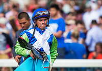 October 06 2018 : Javier Castellano after not winning an inquiry at Keeneland Racecourse on October 05, 2018 in Lexington, Kentucky. Evers/ESW/CSM