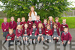 Coolard National School : Junior infants picturedwith their teacher Miss Evelyn O'Connell on their first day at school.Front : Aaron Kennelly, Siobhan Leahy, Abbie O'Gorman, Corrina McGrath, Emily Julie Costelloe, Clodagh O'Sullivan, Kaelynn Murphy & Jack Relihan. Back ; Michelle Relihan, Jade Dowling, Laura Lynch, Tommy Carty, Brian Dalton, Tom Foley, Emer Fitzgerald, Ellen Savage-Guerin, Daniel O'Connor & Adam Joy.