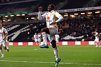 Kieran Agard of MK Dons celebrates scoring the second goal during MK Dons vs Macclesfield Town, Sky Bet EFL League 2 Football at stadium:mk on 17th November 2018