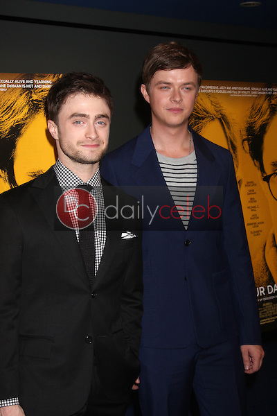 """Daniel Radcliffe, Dane DeHaan<br /> at the """"Kill Your Darlings"""" Premiere, Writers Guild Theater, Beverly Hills, CA 10-03-13<br /> David Edwards/DailyCeleb.Com 818-249-4998"""