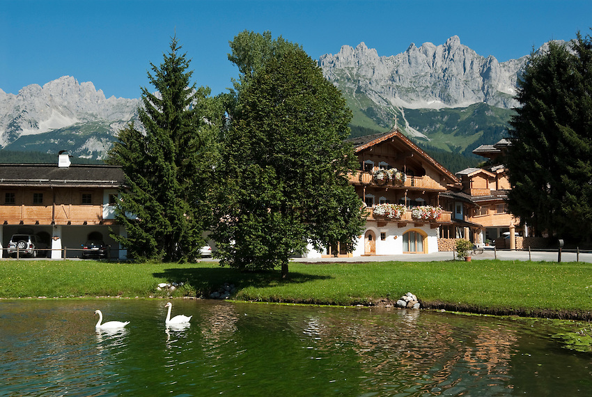 Austria, Tyrol, Going at Wilder Kaiser mountain: Hotel Stanglwirt