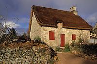 Europe/France/Limousin/19/Corrèze/Plateau de Millevaches/Env Meymac: Chaumière