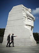 United States President Barack Obama visits the Martin Luther King Memorial with Prime Minister Narendra Modi of India after an Oval Office meeting at the White House, Tuesday, September 30, 2014 in Washington, DC. The two leaders met to discuss the U.S.-India strategic partnership and mutual interest issues.  <br /> Credit: Alex Wong / Pool via CNP