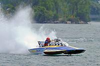 "Tom Bertolini, GP-111 ""Advance United"" Grand Prix class Lauterbach hydroplane..10-12 July, 2009, 100th Gold Cup, Detroit River, Detroit, MI USA..©2009 F.Peirce Williams, USA."