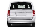 Straight rear view of 2018 Dodge Grand-Caravan SE 5 Door Minivan Rear View  stock images