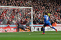 Steve Simonsen of Sheffield United is beaten by Joel Byrom of Stevenage's shot for their first goal . - Sheffield United v Stevenage - npower League 1 - Bramall Lane, Sheffield  - 28th April, 2012. © Kevin Coleman 2012