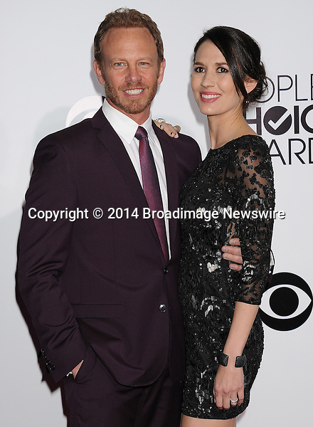 Pictured: Erin Kristine Ludwig, Ian Ziering<br /> Mandatory Credit &copy; Gilbert Flores /Broadimage<br /> 2014 People's Choice Awards <br /> <br /> 1/8/14, Los Angeles, California, United States of America<br /> Reference: 010814_GFLA_BDG_292<br /> <br /> Broadimage Newswire<br /> Los Angeles 1+  (310) 301-1027<br /> New York      1+  (646) 827-9134<br /> sales@broadimage.com<br /> http://www.broadimage.com