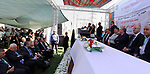 Palestinian Prime Minister, Rami Hamadallah, attends the Opening of the power station in Jalameh in the West Bank,City of Jenin on July  10, 2017. Photo by Prime Minister Office