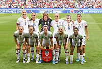 20190707 - LYON , FRANCE : American players with Alyssa Naeher (1), Samantha Mewis (3) , Becky Sauerbrunn (4) , Kelley O Hara (5) , Abby Dahlkemper (7) , Julie Ertz (8) , Alex Morgan (13) , Megan Rapinoe (15) , Rose Lavelle (16) , Tobin Heath (17) and Crystal Dunn (19) pictured posing for the teampicture during the female soccer game between The United States of America – USA-  and the Netherlands – Oranje Leeuwinnen -, the final  of the FIFA Women's  World Championship in France 2019, Sunday 7 th July 2019 at the Stade de Lyon  Stadium in Lyon  , France .  PHOTO SPORTPIX.BE | DAVID CATRY