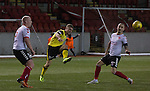 Clyde versus Edinburgh City, SPFL League 2 game at Broadwood Stadium, Cumbernauld. The match ended 0-0, watched by a crowd of 461. Photo shows City midfielder Dean Cummings.