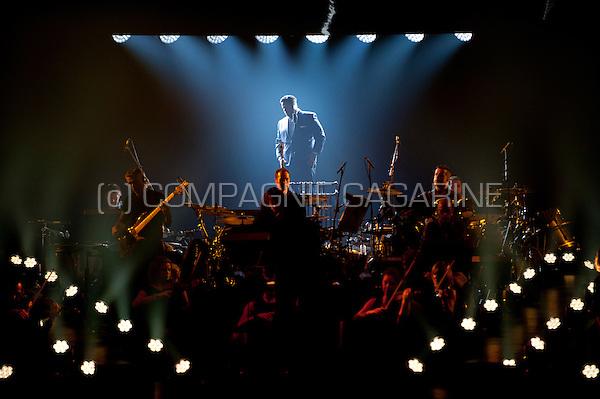 American classical crossover tenor Fernando Varela performing at the Night Of The Proms, in Antwerp (Belgium, 14/11/2015)
