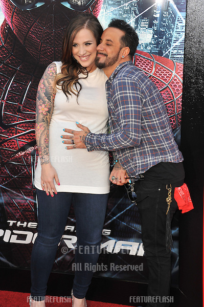 "A.J. McLean & Rochelle DeAnna Karidis at the world premiere of ""The Amazing Spider-Man"" at Regency Village Theatre, Westwood..June 29, 2012  Los Angeles, CA.Picture: Paul Smith / Featureflash"