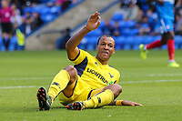 Wes Thomas of Oxford United during the Sky Bet League 1 match between Peterborough and Oxford United at the ABAX Stadium, London Road, Peterborough, England on 30 September 2017. Photo by David Horn.
