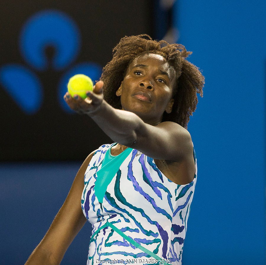 Venus Williams (USA)<br /> <br /> Tennis - Australian Open 2015 - Grand Slam -  Melbourne Park - Melbourne - Victoria - Australia  - 26 January 2015. <br /> &copy; AMN IMAGES