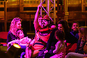 London, UK. 10.11.2018. Underbelly and Briefs Factory presents BRAT KIDS CARNIVAL, directed by Lisa Fa'alafi, as part of the Christmas in Leicester Square season, in a spiegeltent in Leicester Square itself. The cast is: Vicky Falconer Pritchard (Host), Lisa Fa'alafi, Mr Monkey, Luke Hubbard, Crystal Stacey, Rowan Thomas. The production runs from November 10th 2018 to Dec 30th  2018. Photograph © Jane Hobson.