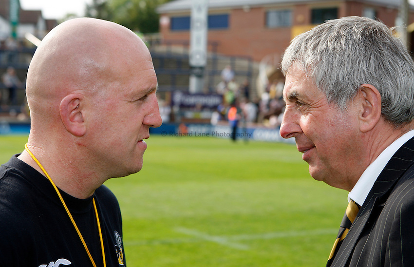 Photo: Richard Lane/Richard Lane Photography..Leeds Carnegie v London Wasps. Guinness Premiership. 10/05/2008. Wasps' head coach, Shaun Edwards and Director of Rugby, Ian McGeechan.