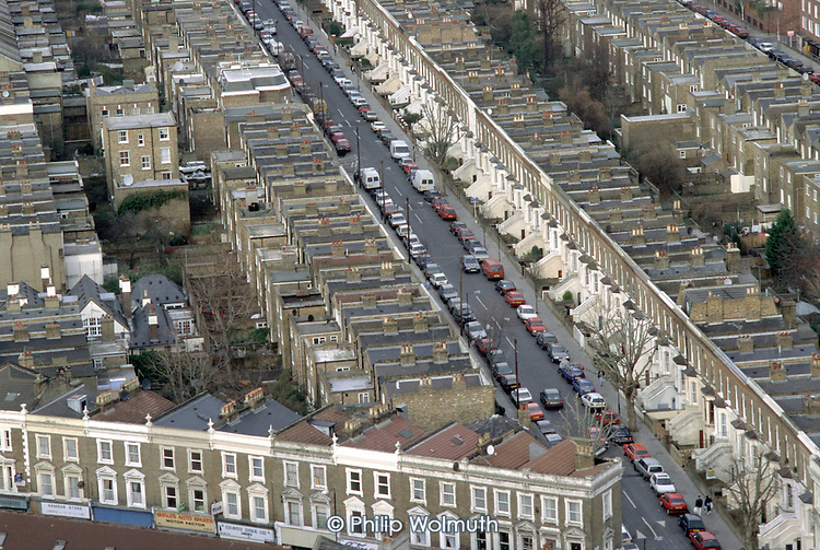Victorian terraced housing in North Paddington, London.