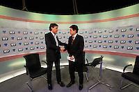 SAO PAULO, 11 DE JULHO DE 2012. SABATINA DA REDE RECORD NEWS. O candidato a prefeitura de são paulo, Carlos Giannazi, durante a sabatina da rede record news em Sao Paulo. FOTO: ADRIANA SPACA: BRAZIL PHOTO PRESS