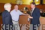 Minister Jimmy Deenihan TD, Martin Ferris TD, Arthur Spring TD during the count at the KDYS, Tralee during the fiscal treaty referendum count.
