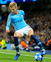 Manchester City's Oleksandr Zinchenko<br /> <br /> Photographer Alex Dodd/CameraSport<br /> <br /> UEFA Champions League Group F - Manchester City v Shakhtar Donetsk - Wednesday 7th November 2018 - City of Manchester Stadium - Manchester<br />  <br /> World Copyright © 2018 CameraSport. All rights reserved. 43 Linden Ave. Countesthorpe. Leicester. England. LE8 5PG - Tel: +44 (0) 116 277 4147 - admin@camerasport.com - www.camerasport.com