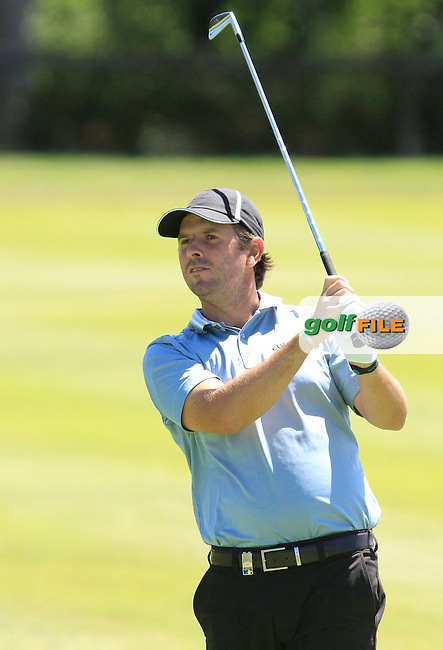 Thomas Aiken (RSA) on the 9th fairway during Round 3 of the Open de Espana  in Club de Golf el Prat, Barcelona on Saturday 16th May 2015.<br /> Picture:  Thos Caffrey / www.golffile.ie