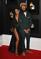 LOS ANGELES, CA - FEBRUARY 10:  Lindsey Lodenquai and Protoje at the 61st Annual Grammy Awards at the Staples Center in Los Angeles, California on February 10, 2019. Credit: Faye Sadou/MediaPunch