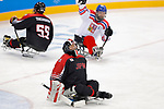 Shinobu Fukushima (JPN), <br /> MARCH 13, 2018 - Para Ice Hockey : <br /> Qualification round between Czech Republic 3-0 Japan <br /> at Gangneung Hockey Centre during the PyeongChang 2018 Paralympics Winter Games in Pyeongchang, South Korea. <br /> (Photo by Yusuke Nakanishi/AFLO)