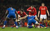 17th March 2018, Principality Stadium, Cardiff, Wales; NatWest Six Nations rugby, Wales versus France; Josh Navidi of Wales evades the attempted tackle by Wenceslas Lauret of France