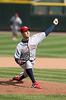 Lehigh Valley Ironpigs starting pitcher Ryan Feierabend #31 delivers a pitch during the second game of a double header against the Rochester Red Wings at Frontier Field on April 14, 2011 in Rochester, New York.  Lehigh Valley defeated Rochester 5-3 in extra innings.  Photo By Mike Janes/Four Seam Images