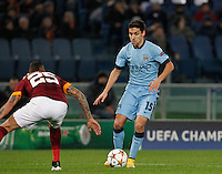 Manchester City's JesusNavas  during the Champions League Group E soccer match between As Roma and Manchester City  at the Olympic Stadium in Rome December 10 , 2014.