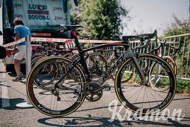 the reveal of the newest (aero) Ridley Noah<br /> <br /> Stage 2: Mouilleron-Saint-Germain > La Roche-sur-Yon (183km)<br /> <br /> Le Grand Départ 2018<br /> 105th Tour de France 2018<br /> ©kramon