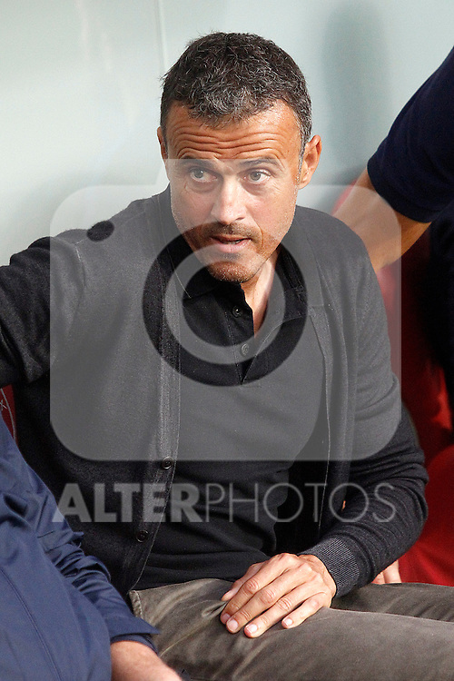 FC Barcelona's coach Luis Enrique Martinez during La Liga match. August 28,2016. (ALTERPHOTOS/Acero)