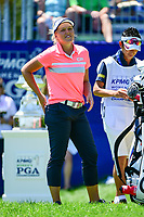 Brooke M. Henderson (CAN) looks over her tee shot on 1 during Sunday's final round of the 2017 KPMG Women's PGA Championship, at Olympia Fields Country Club, Olympia Fields, Illinois. 7/2/2017.<br /> Picture: Golffile | Ken Murray<br /> <br /> <br /> All photo usage must carry mandatory copyright credit (&copy; Golffile | Ken Murray)