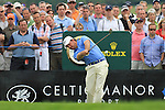 Graeme McDowell teeing off on the 17th green on the final day of the Celtic Manor Wales Open 2010.Picture Fran Caffrey/Newsfile.ie