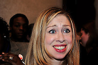 Chelsea Clinton, former First Daughter.of the United States at a Young Democrats Convention in North Carolina.2008