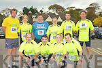 CAUSE: Running for the Tralee Carers Association on Sunday Morning in the10k Mini Marathon, outside the Brandon Hotel, Tralee. Front l-r: Gordan Fleming,Vincent O'Leary,Antonia Pierse and Christine Purcell. Back l-r: Kevin Greaney, Dana Lunakova, Domnick and June Moloney. Anthony Sheehy and Kevin Woulf...