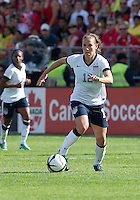 02 June 2013: U.S Women's National Soccer Team midfielder Lauren Cheney #12 in action during an International Friendly soccer match between the U.S. Women's National Soccer Team and the Canadian Women's National Soccer Team at BMO Field in Toronto, Ontario.<br /> The U.S. Women's National Team Won 3-0.