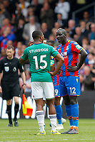 Former Liverpool team mates Daniel Sturbridge of West Brom and Mamadou Sakho of Crystal Palace during the EPL - Premier League match between Crystal Palace and West Bromwich Albion at Selhurst Park, London, England on 13 May 2018. Photo by Carlton Myrie / PRiME Media Images.