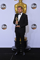 Leonardo DiCaprio at the 88th Academy Awards at the Dolby Theatre, Hollywood.<br /> February 28, 2016  Los Angeles, CA<br /> Picture: Paul Smith / Featureflash