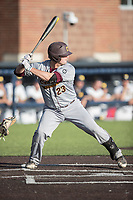 Central Michigan Chippewas designated hitter Robert Greenman (23) at bat against the Michigan Wolverines on May 9, 2017 at Ray Fisher Stadium in Ann Arbor, Michigan. Michigan defeated Central Michigan 4-2. (Andrew Woolley/Four Seam Images)