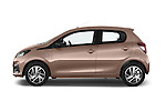 Car Driver side profile view of a 2014 Peugeot 108 Allure 5 Door Micro Car 2WD Side View