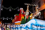 Santa Claus arrives on his sleigh at the Christmas in Killarney parade on Saturday evening