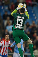 21.12.2012 SPAIN -  La Liga 12/13 Matchday 17th  match played between Atletico de Madrid vs Celta de Vigo (1-0) at Vicente Calderon stadium. The picture show  Thibaut Courtois (Belgian goalkeeper of At. Madrid)
