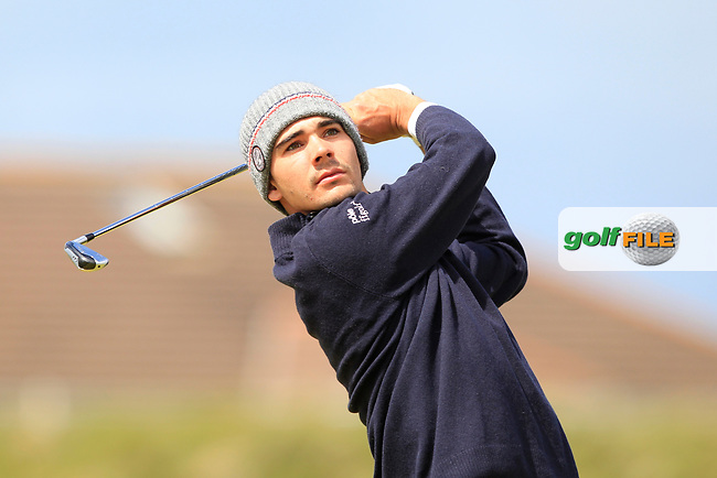 Charles Almeida (FRA) on the 5th tee during Round 1 of the The Amateur Championship 2019 at The Island Golf Club, Co. Dublin on Monday 17th June 2019.<br /> Picture:  Thos Caffrey / Golffile<br /> <br /> All photo usage must carry mandatory copyright credit (© Golffile | Thos Caffrey)