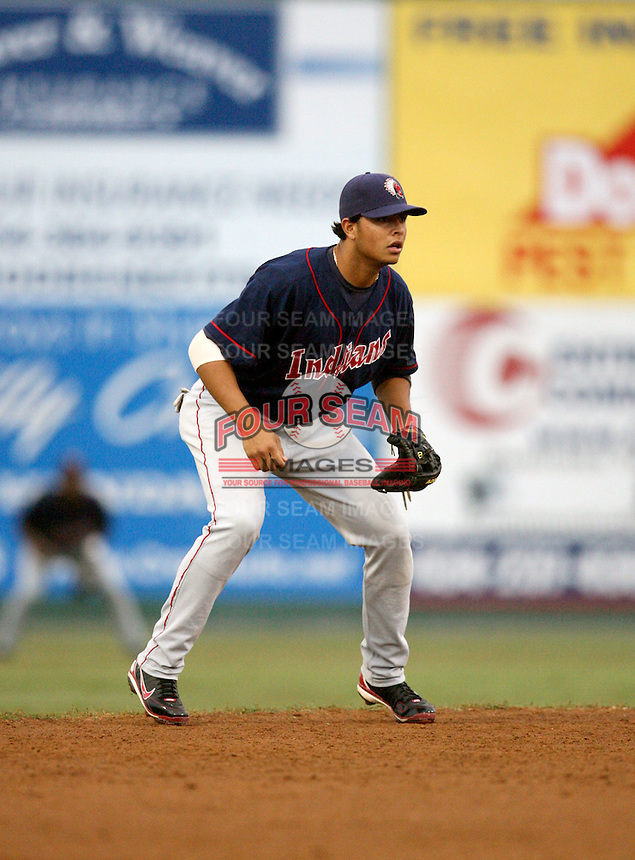 Carlos Rivero / Kinston Indians..Photo by:  Bill Mitchell/Four Seam Images