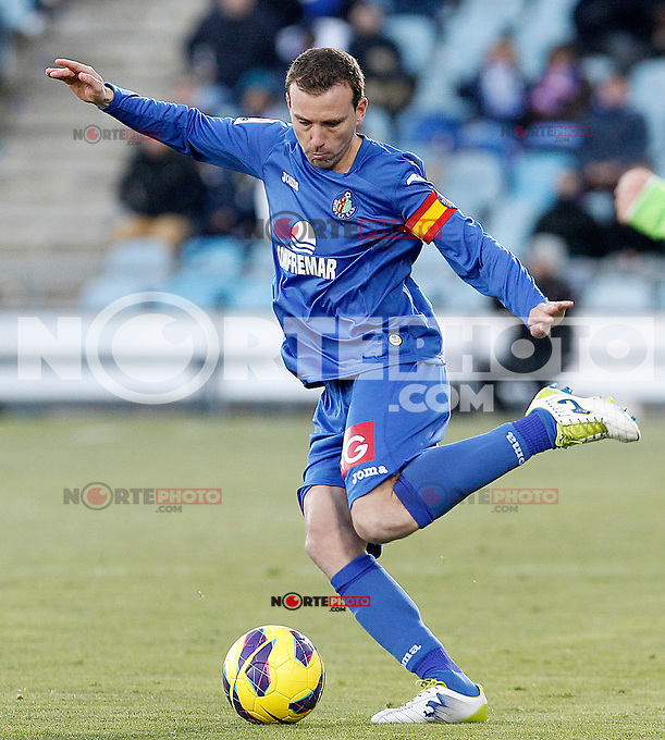 Getafe's Mane Jimenez during La Liga match.December 01,2012. (ALTERPHOTOS/Acero) ©/NortePhoto