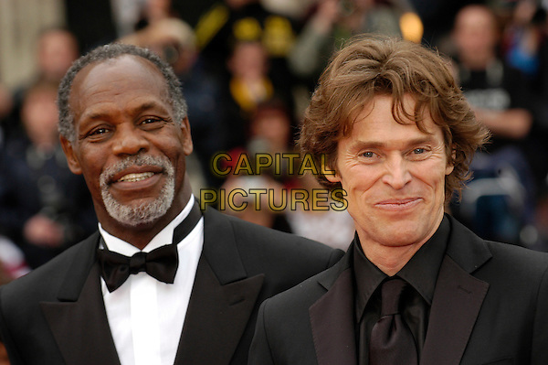 "DANNY GLOVER & WILLEM DAFOE.""Manderlay"" screening at the Grand Theatre during the 58th International Cannes Film Festival..May 16th, 2005.headshot portrait bow tie.www.capitalpictures.com.sales@capitalpictures.com.©Capital Pictures"