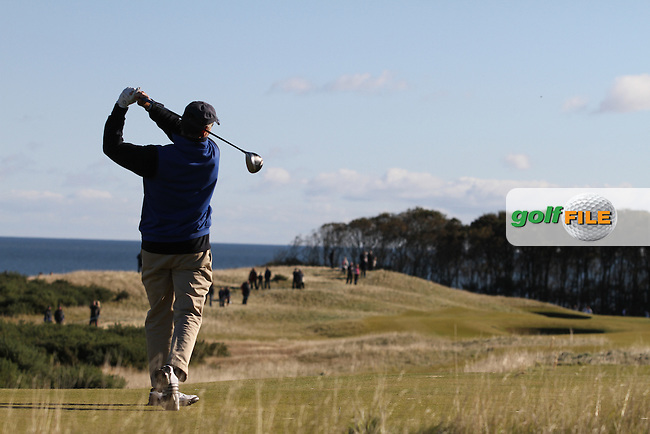 Brian Higgins (AM) in Kingsbarns on the 3rd Day at the Alfred Dunhill Links Championship, Old Course St. Andrews, Carnoustie and Kingsbarns, Scotland...(Photo Jenny Matthews/www.golffile.ie)