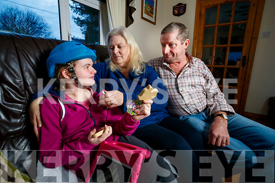Maisie, Michael, Adam and Zoe Langford, Lyreacrompane, pictured on Friday last, who are seeking medical cannabis to be licenced in Ireland, as their daughter Zoe suffers from epilepsy.